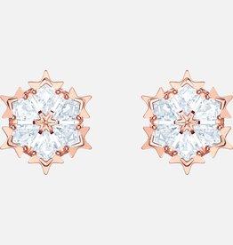 Swarovski Swarovski Magic Earrings, White, Rose Gold Tone Plated