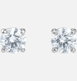 Swarovski Swarovski Attract Stud Earrings, White, Rhodium Plated