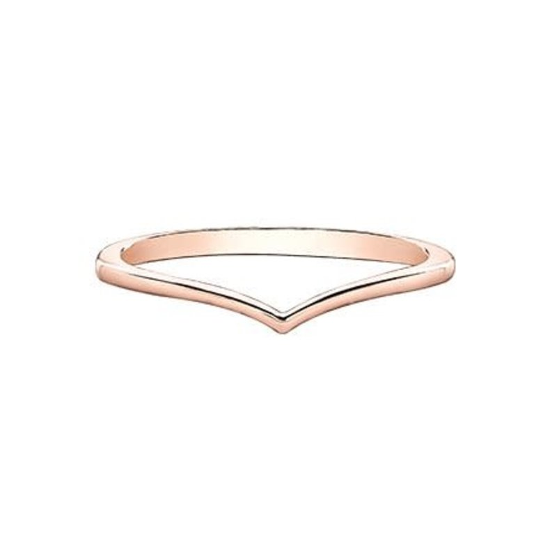 10K Chevron Band (Rose, White, Yellow) Gold