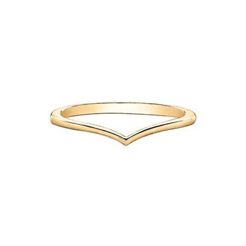 10K (Rose, White, Yellow) Gold Stackable Chevron Wedding Band