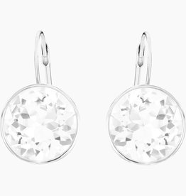 Swarovski Swarovski Bella Earrings, White, Rhodium Plated