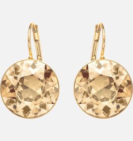 Swarovski Swarovski Bella Earrings, Brown, Gold Tone