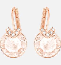 Swarovski Swarovski Bella V Earrings, Pink, Rose Gold Tone Plated