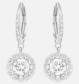 Swarovski Swarovski Attract Dangle Earrings, White, Rhodium Plated