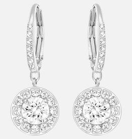 Swarovski Swarovski Attract Earrings, White, Rhodium Plated
