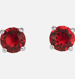 Swarovski Swarovski Attract Stud Earrings, Red, Rhodium Plated