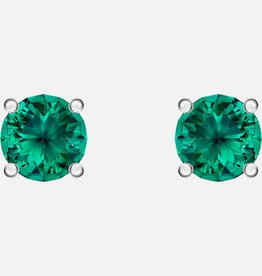 Swarovski Swarovski Attract Stud Earrings, Green, Rhodium Plated