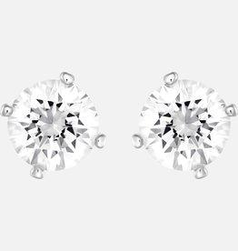 Swarovski Swarovski Attract Stud Earrings With Pearl, White, Rhodium Plated