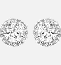 Swarovski Swarovski Angelic Stud Earrings, White, Rhodium Plated