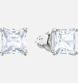 Swarovski Swarovski Attract Stud Earrings, White Rhodium Plated