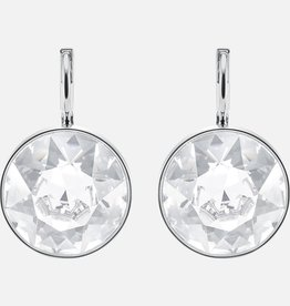 Swarovski Swarovski Bella Mini Earrings, White, Rhodium Plated