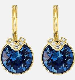 Swarovski Swarovski Bella V Earrings, Blue, Gold Plated