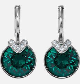 Swarovski Swarovski Bella V Earrings, Green, Rhodium Plated
