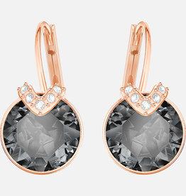 Swarovski Swarovski Bella V Earrings, Grey, Rose Gold Tone Plated