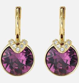 Swarovski Swarovski Bella V Earrings, Purple, Gold Plated