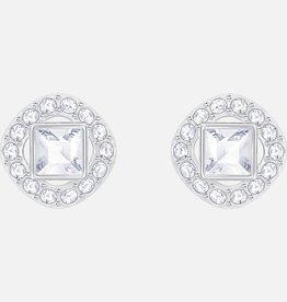 Swarovski Swarovski Angelic Square Earrings, White, Rhodium Plated