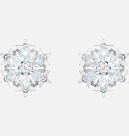 Swarovski Swarovski Magic Stud Earrings, White, Rhodium Plated