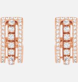 Swarovski Swarovski Further Earrings, White, Rose Gold Tone Plated