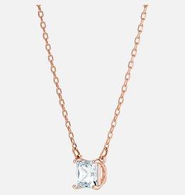 Swarovski Swarovski Attract Necklace, White, Rose Gold Plated