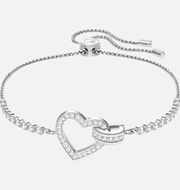 Swarovski Swarovski Lovely Bracelet, White, Rhodium Plated