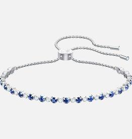 Swarovski Swarovski Subtle Bracelet, Blue, Rhodium Plated