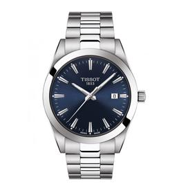 Tissot Tissot Gentleman Silver Tone Blue Dial Watch
