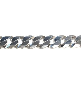 Sterling Silver (20 - 26in) Curb Chains 10.5mm