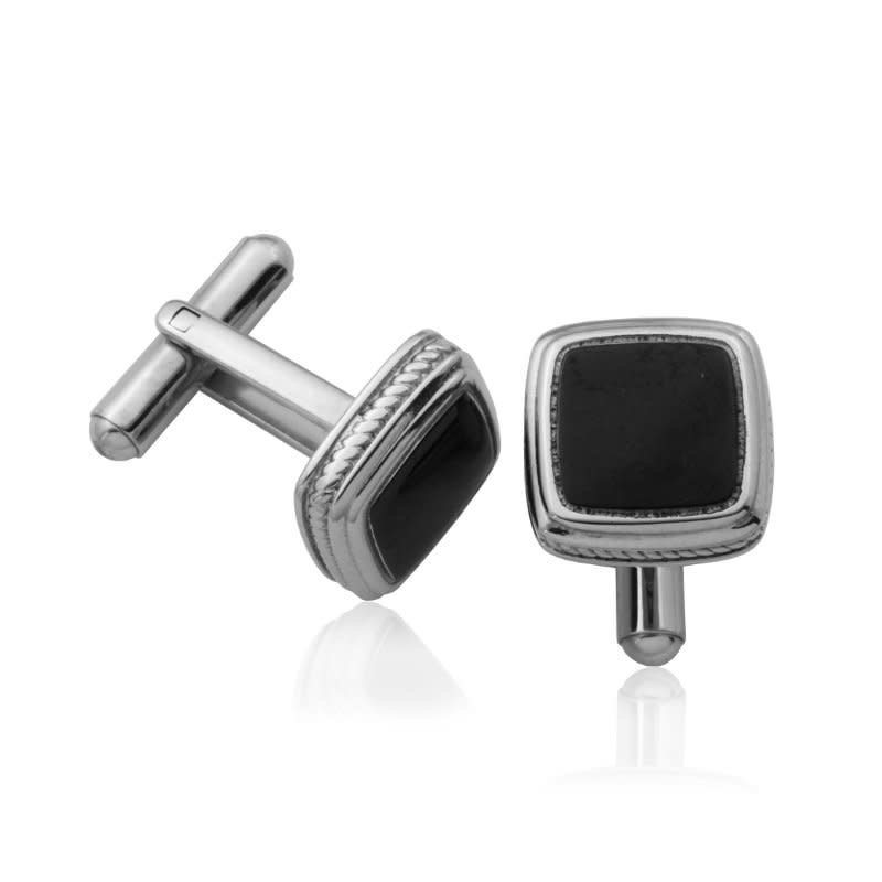 Steelx Steelx Cuff Link IP Black High Polished