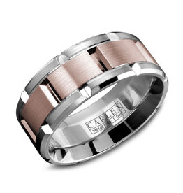 Carlex Carlex White and Rose Gold Luxury G1 Mens Ring