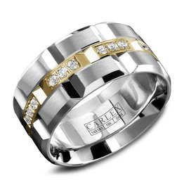 Carlex Carlex White and Yellow Gold Diamond Luxury G1 Mens Ring