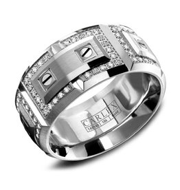 Carlex Carlex White Gold Diamond Luxury G2 Mens Ring