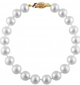 7-7.5mm Freshwater Pearl Bracelet Yellow Gold Clasp
