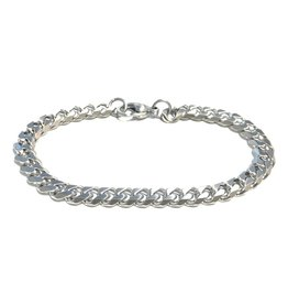 Steelx Steelx Stainless Steel 8mm Curb Bracelet 8.5""