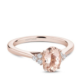 Noam Carver Noam Carver Rose Gold Morganite Diamond Ring