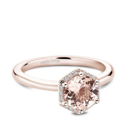 Noam Carver Noam Carver Rose Gold Marganite Diamond Halo Ring