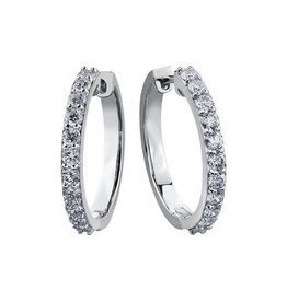 White Gold (1.00ct) Diamond Hoop Earrings