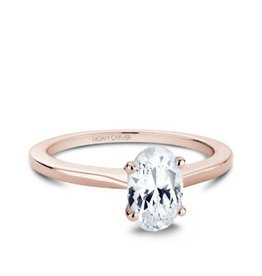 Crown Ring Noam Carver Rose Gold Oval Solitaire Diamond Mount (14K, 18K)