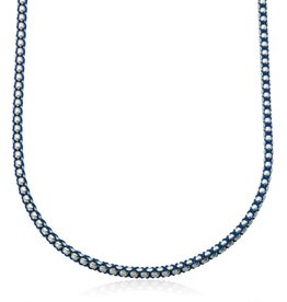 Steelx Mens Stainless Steel High Polish Chain With Blue Cotten Cord