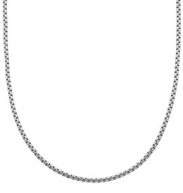 Steelx Mens Stainless Steel Shiny Round Box Chain 24""