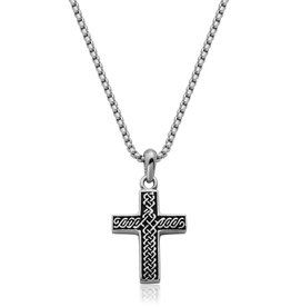 Steelx Mens Stainless Steel Celtic Cross Necklace