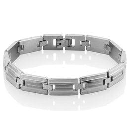 "Steelx Mens Stainless Steel High Polished Link Bracelet 8.5"""