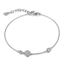 Reign Reign Sterling Silver Adjustable CZ Bracelet