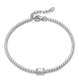 Reign Reign Adjustable Sterling Silver CZ Tennis Bracelet