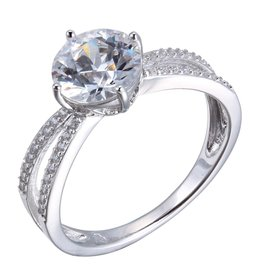 Reign Reign Sterling Silver Soliatre Fancy CZ Ring