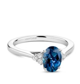 Noam Carver Noam Carver White Gold London Blue Topaz & Diamond Ring