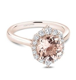 Noam Carver Noam Carver Rose Gold Morganite & Diamond Ring
