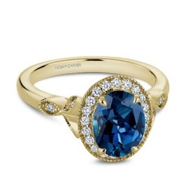 Noam Carver Noam Carver Yellow Gold Blue Topaz & Diamond Ring