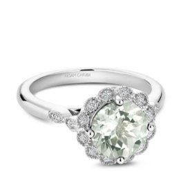Noam Carver Noam Carver White Gold Green Amethyst & Diamonds Ring