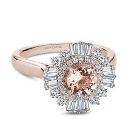 Noam Carver Rose Gold Diamond Morganite Ring