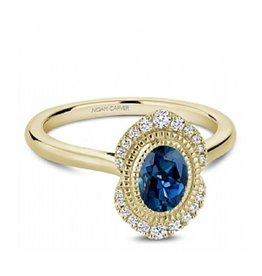 Noam Carver Noam Carver Yellow Gold London Bue Topaz & Diamond Ring